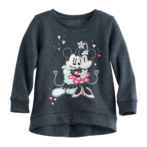 a6dde5369 Disney's Mickey Mouse & Minnie Mouse Baby Girl High-Low Fleece ...
