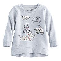 Disney's 101 Dalmatians Baby Girl High-Low Fleece Lined Pullover Sweater