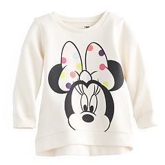 Disney's Minnie Mouse Baby Girl High-Low Fleece Lined Pullover Sweater by Jumping Beans®