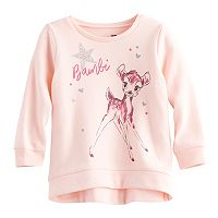 Disney's Beauty & The Beast Belle Baby Girl High-Low Fleece Lined Pullover Sweater