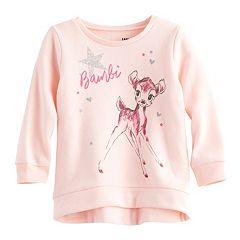 Disney's Bambi Baby Girl High-Low Fleece Pullover Sweatshirt