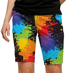 Women's Loudmouth Paint Splatter Bermuda Short