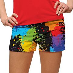 Women's Loudmouth Paint Splatter Golf Mini Short