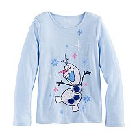 Disney's Frozen Olaf Girls 4-7 Glittery Graphic Tee by Jumping Beans®