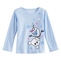Disney's Frozen Olaf Toddler Girl Glittery Graphic Tee by Jumping Beans®