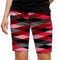 Women's Loudmouth Red Printed Bermuda Short