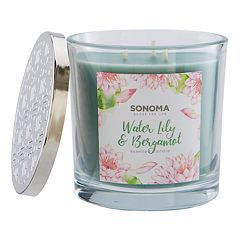 SONOMA Goods for Life™ Water Lily & Bergamot 14-oz. Candle Jar