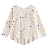 Toddler Girl Jumping Beans® Splatter Print Thermal Tunic Top