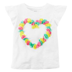 Girls 4-8 Carter's Heart Flutter-Sleeved Tee