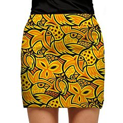 Women's Loudmouth Yellow Abstract Chicken Golf Skort
