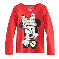 Disney's Minnie Mouse Girls 4-7 Glitter & Sequin Flip Graphic Tee by Jumping Beans®