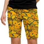 Women's Loudmouth Yellow Abstract Chicken Bermuda Short