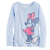 Disney's Minnie Mouse Girls 4-7 Glitter & Sequin Graphic Tee by Jumping Beans®