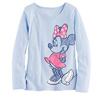 Disney's Minnie Mouse Toddler Girl Glitter & Sequin Graphic Tee by Jumping Beans®