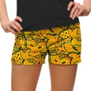Women's Loudmouth Yellow Abstract Chicken Print Golf Short