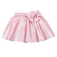 Girls 4-8 Carter's Striped Pink Poplin Skirt