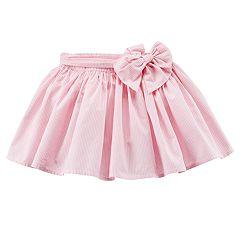 Girls 4-8 Carter's Striped Pink Poplin Skirt