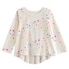 Baby Girl Jumping Beans® Splatter Print Thermal Tunic Top
