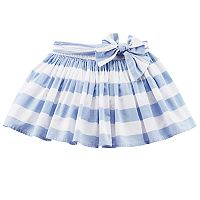 Girls 4-8 Carter's Striped Poplin Skirt