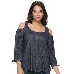 Women's French Laundry Cold-Shoulder Blouse