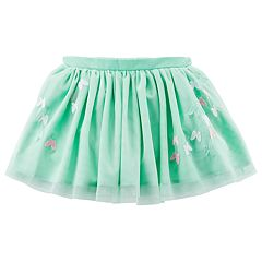 Girls 4-8 Carter's Light Green Embroidered Tutu Skirt