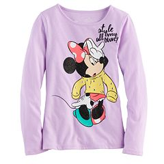 Disney's Minnie Mouse Toddler Girl 'Style All My Own' Glitter Graphic Tee by Jumping Beans®