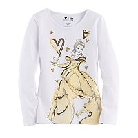 Disney's Beauty & The Beast Belle & Chip Girls 4-7 Glittery Graphic Tee by Jumping Beans®