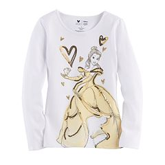 Disney's Beauty & The Beast Belle & Chip Toddler Girl Glittery Graphic Tee by Jumping Beans®