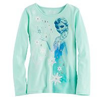 Disney's Frozen Elsa Girls 4-7 Glitter & Rhinestone Graphic Tee by Jumping Beans®