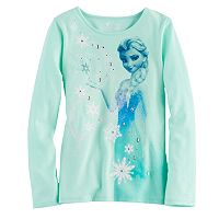 Disney's Frozen Elsa Toddler Girl Glitter & Rhinestone Graphic Tee by Jumping Beans®