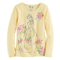 Disney's Beauty & The Beast Belle Girls 4-7 Glittery Rosette Graphic Tee by Jumping Beans®