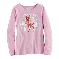 Disney's Bambi Girls 4-7 Velvet & Glitter Graphic Tee by Jumping Beans®