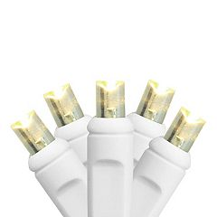 100 Warm White Wide Angle LED Indoor / Outdoor Christmas Lights