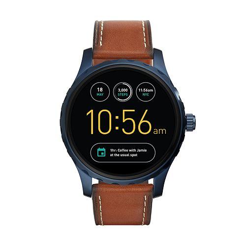 Fossil Men's Q Marshal Gen 2 Leather Smart Watch - FTW2106