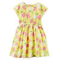 Girls 4-8 Carter's Yellow Floral Jersey Dress