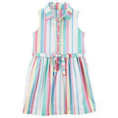 Girls 4-8 Carter's Vertical Stripe Dress