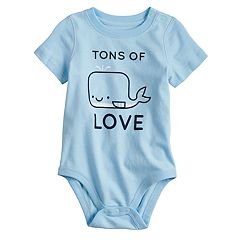 Baby Boy Jumping Beans® 'Tons of Love' Whale Graphic Bodysuit