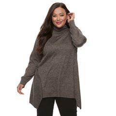 Plus Size Apt. 9® Turtleneck Tunic Sweater