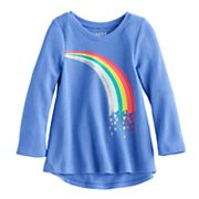Baby Girl Jumping Beans® Thermal Graphic Tunic Top