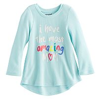 Baby Girl Jumping Beans® Thermal Slogan Graphic Tunic Top