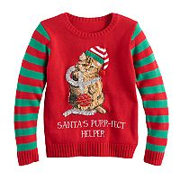 Girls 7-16 & Plus Size It's Our Time Embroidered Sequin Light-Up Ugly Christmas Sweater