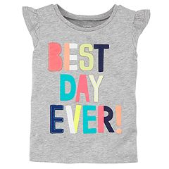 Girls 4-8 Carter's 'Best Day Ever' Applique Tee