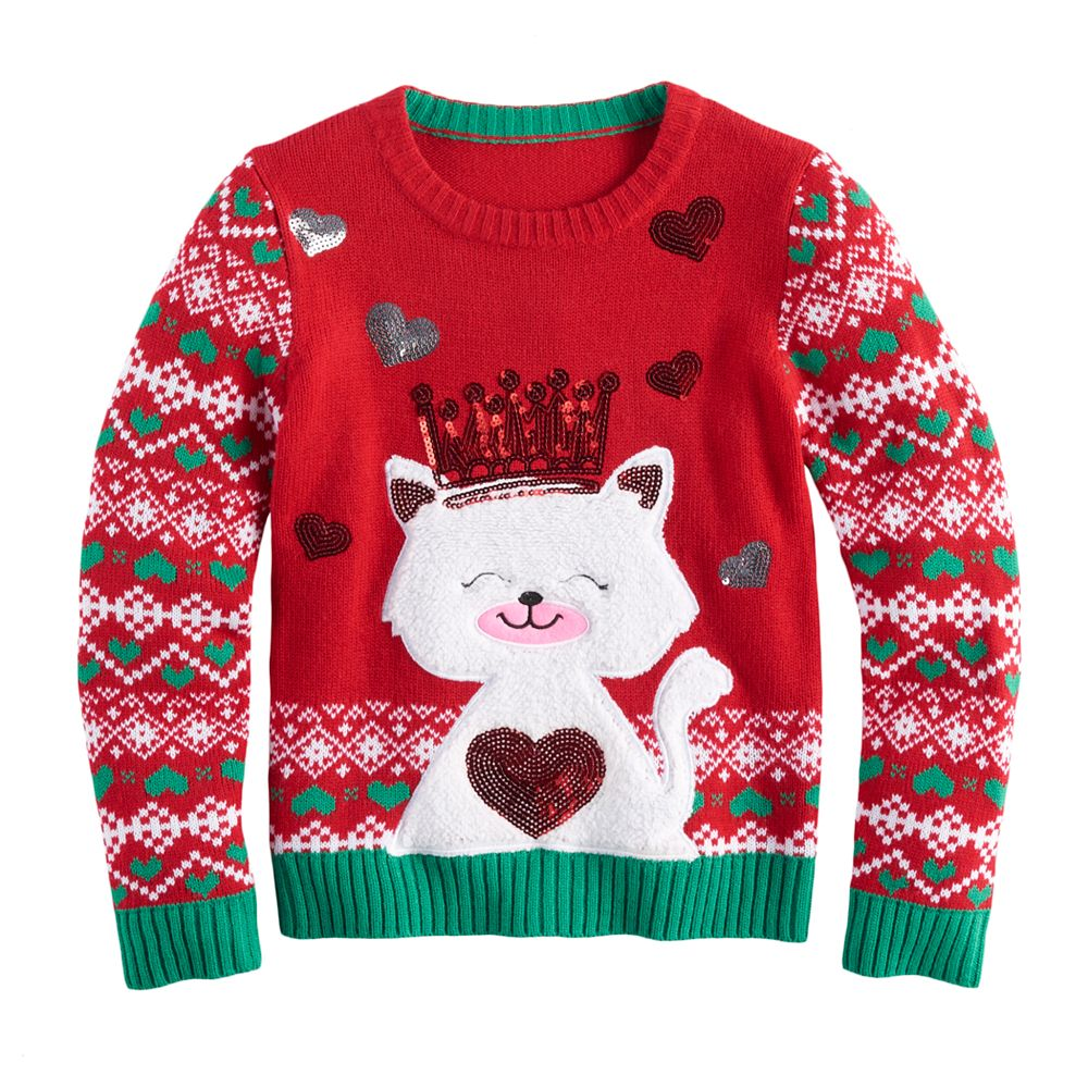 Girls 7-16 It\'s Our Time Ugly Christmas Sweater