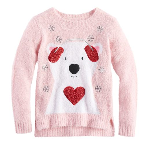 Girls 7-16 & Plus Size It's Our Time Fuzzy Ugly Christmas Sweater