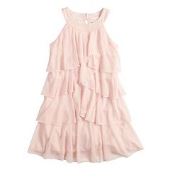 Girls 7-16 My Michelle Ruffled Corkscrew Dress