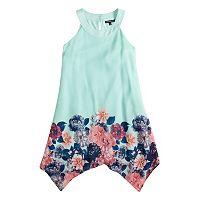 Girls 7-16 My Michelle Sharkbite Halter Dress