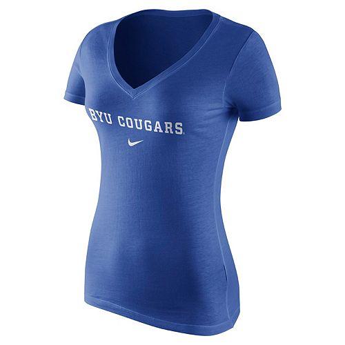 Women's Nike BYU Cougars Wordmark Tee
