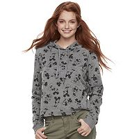 Disney's Minnie Mouse & Mickey Mouse Juniors' Print Crop Hoodie