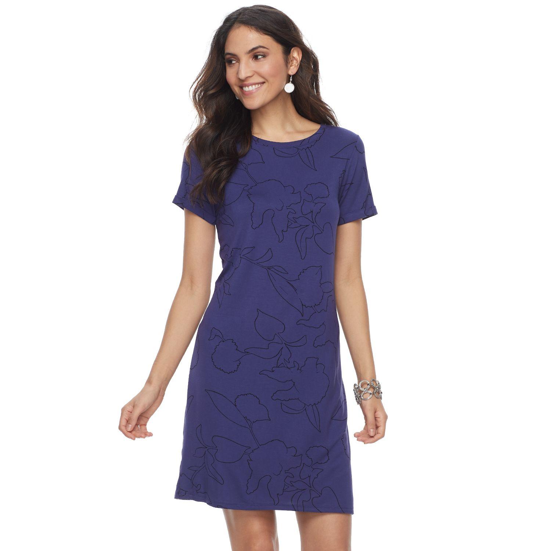 Purple Dress Short Sleeves