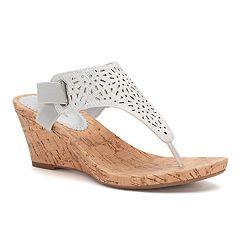 Croft & Barrow® Agnes Women's Wedge Sandals